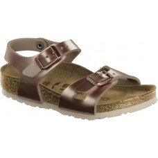 Birkenstock Kids Rio Electric Metallic Copper