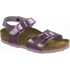 Birkenstock Kids Rio Electric Metallic Lilac