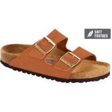 Birkenstock Arizona Nubuck Leather Pecan Soft Footbed