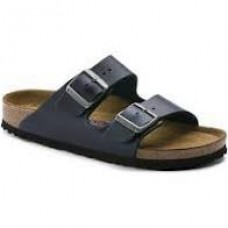 Birkenstock Arizona Leather Blue Soft Footbed