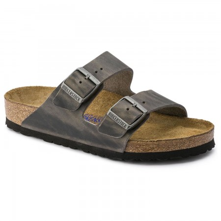 Birkenstock Arizona Oiled Leather Iron Soft Footbed