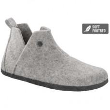 Birkenstock Andermatt Light Grey Wool Felt Shearling