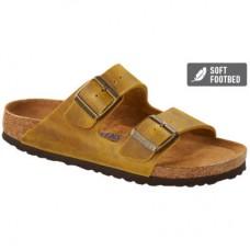 Birkenstock Arizona Oiled Leather Ochre Soft Footbed