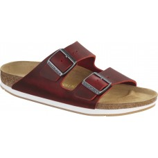 Birkenstock Arizona Natural Leather Red