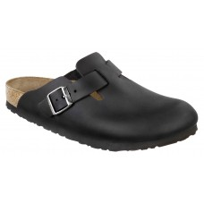 Birkenstock Boston Black Leather