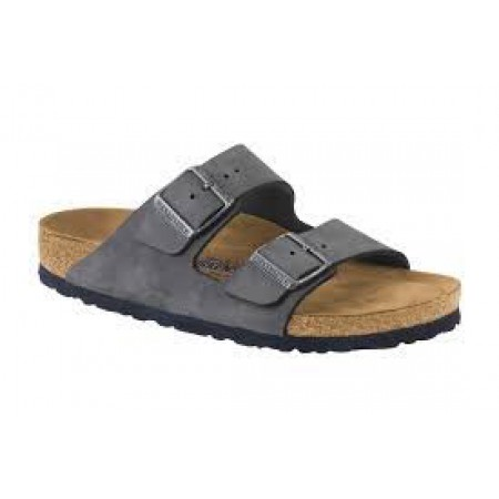 Birkenstock Arizona Soft Footbed Nubuck Gunmetal