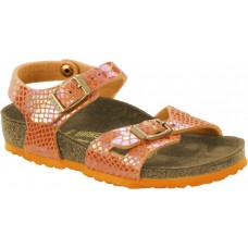 Birkenstock Kids Rio Shiny Snake Orange