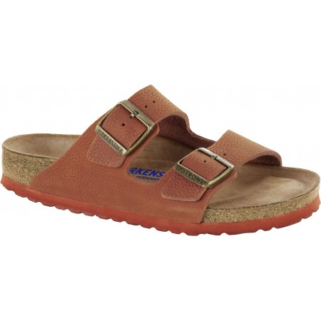 Birkenstock Arizona Leather Steer Curry Soft Footbed