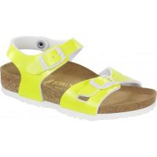 Birkenstock Kids Rio Patent Neon Yellow Patent