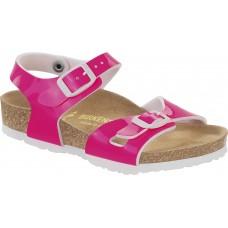 Birkenstock Kids Rio Patent Neon Pink