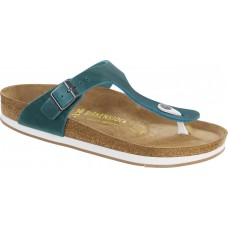 Birkenstock Gizeh Oiled Natural Leather Turquoise